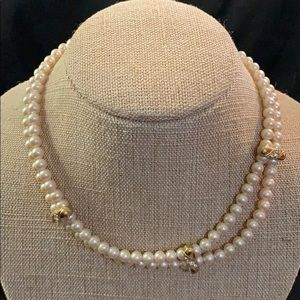Classic Double Layered Pearl Necklace